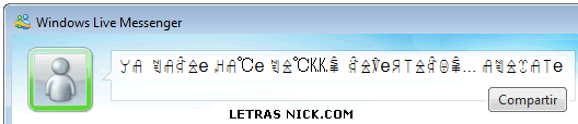 como hacer letras bonitas de Msn Messenger