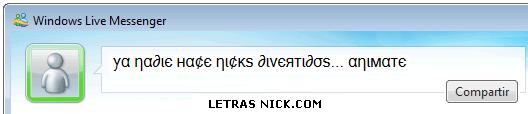 letras diferentes para perfil de Msn Messenger