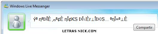 letras diferentes personalizadas de Msn Messenger