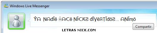 letras goticas para nick de Msn Messenger