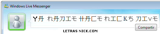letras grandes para face de Msn Messenger