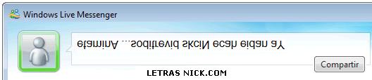 letras invertidas para nick de Msn Messenger