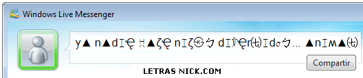 letras jeroglificas de Msn Messenger