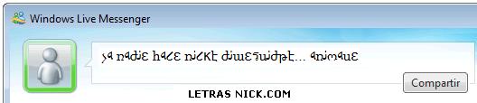 letras minusculas nick de Msn Messenger