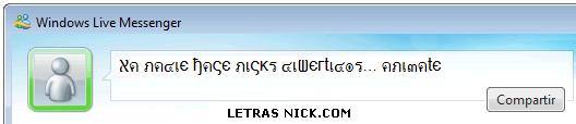 letras raras para el msn de Msn Messenger