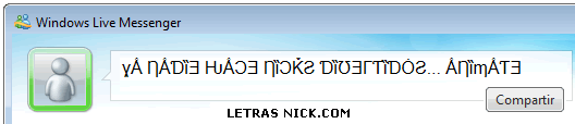 letras rusas de Msn Messenger