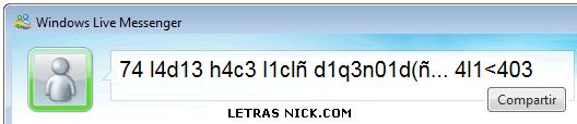 nick con numeros de Msn Messenger